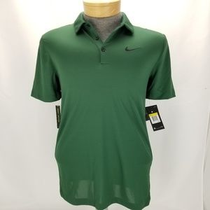 NIKE GOLF DRI-FIT MENS GREEN BREATHE SHORT SLEEVE